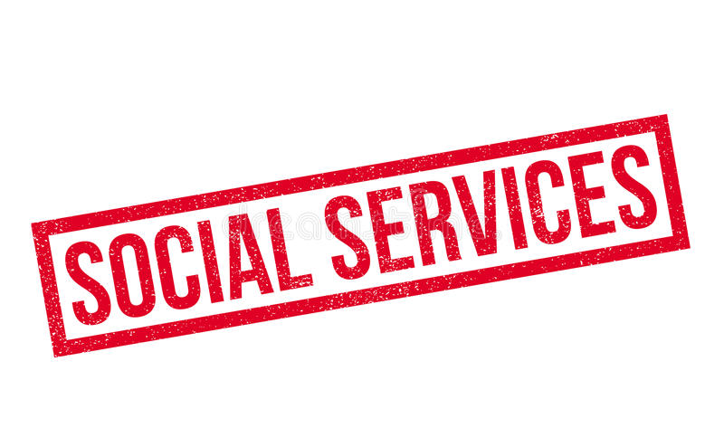 Social Services rubber stamp. Grunge design with dust scratches. Effects can be easily removed for a clean, crisp look. Color is easily changed royalty free stock photo