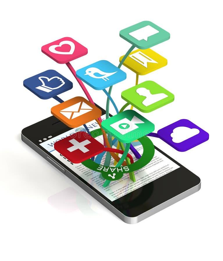 Download Social Sharing stock illustration. Illustration of social - 26652686