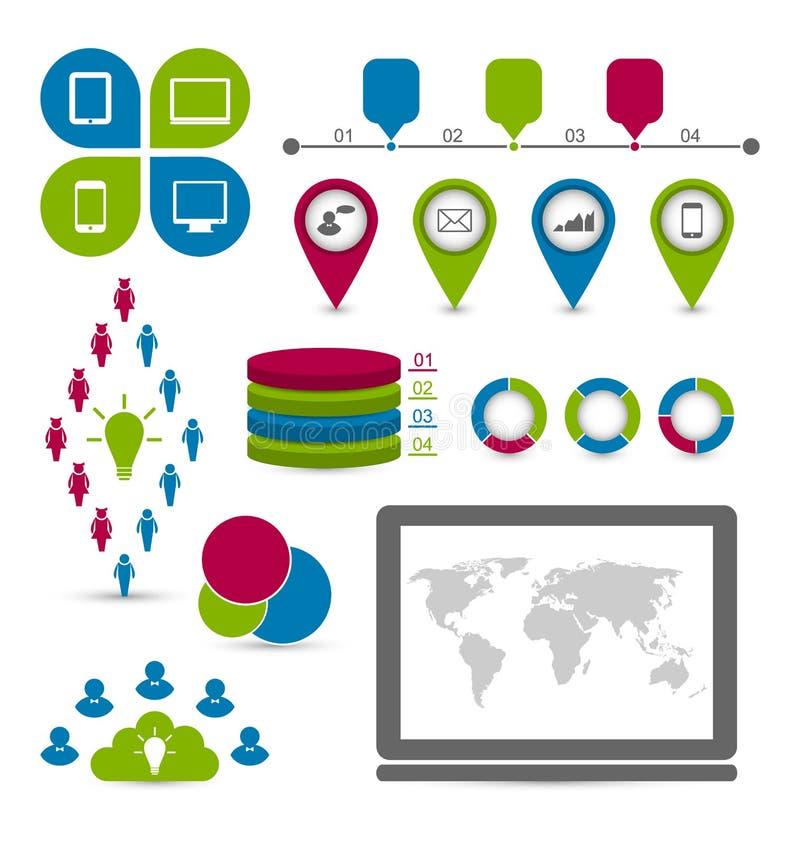 Free Social Statistics Set Infographic Elements Stock Images - 35494144