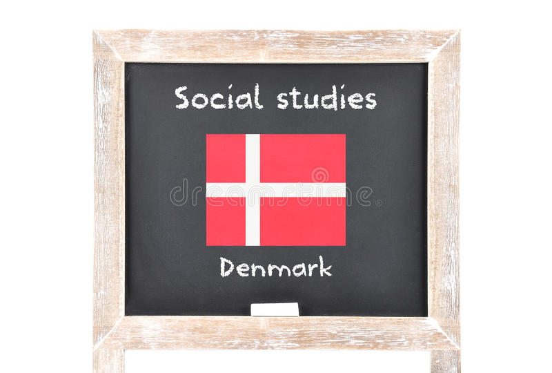 Social studies with flag on board. Colorful and crisp image of social studies with flag on board stock photos