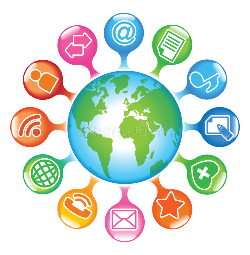 Social-Support-Globe illustration de vecteur