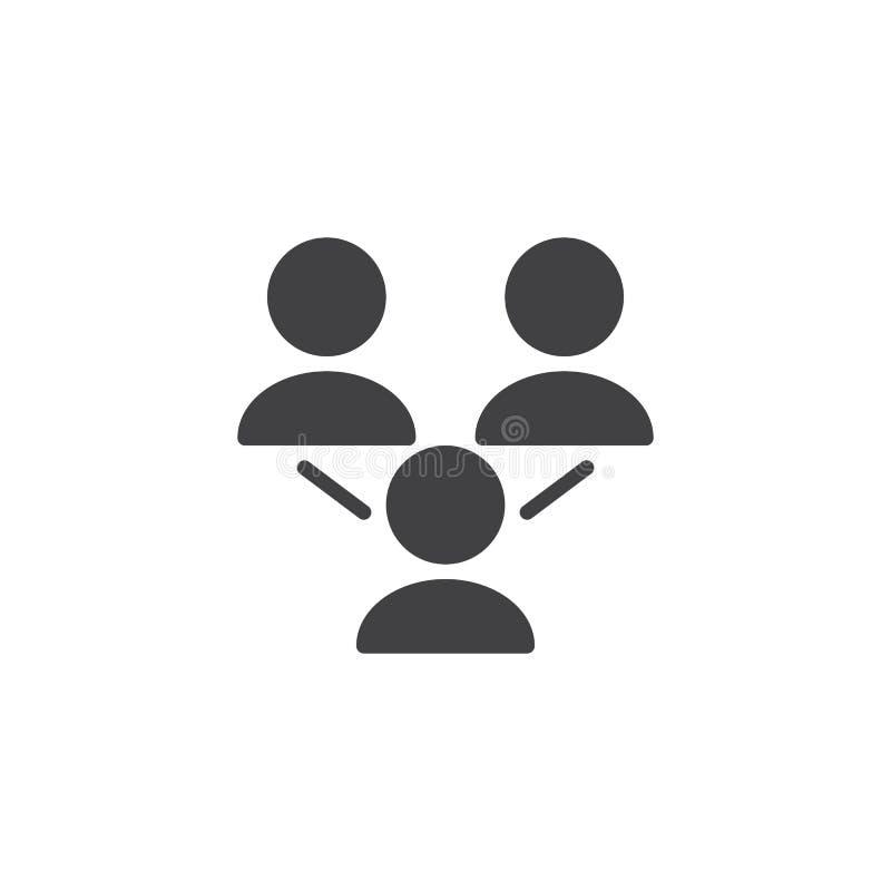 Social symbol för nätverksgruppvektor royaltyfri illustrationer