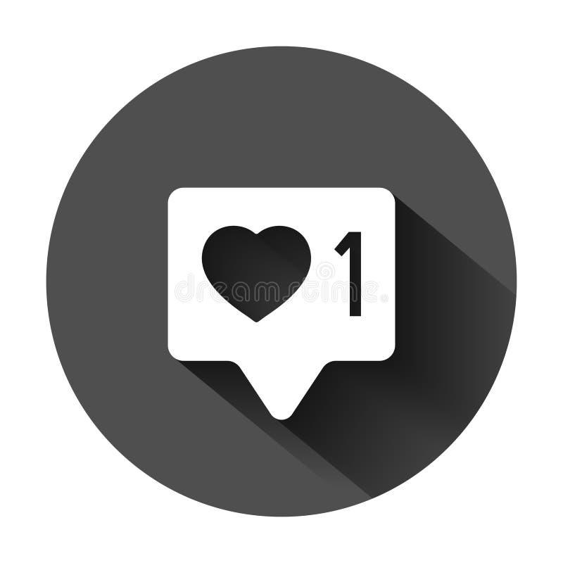 Social symbol f?r massmediameddelandetecken i plan stil Som följer kommentaren, vektorillustrationen på svart rundabakgrund med l vektor illustrationer