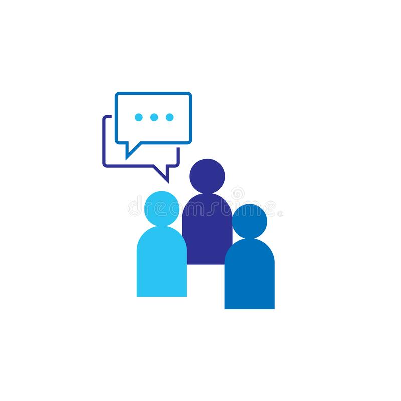 People Icon. Social talk network group logo symbol. Business corporate team working together. Crowd sign. Leadership or community royalty free illustration