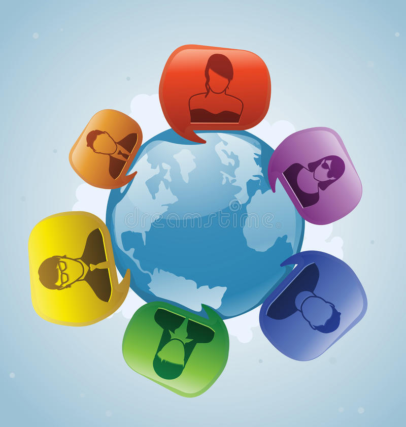 Social Talking World Royalty Free Stock Images - Image ...