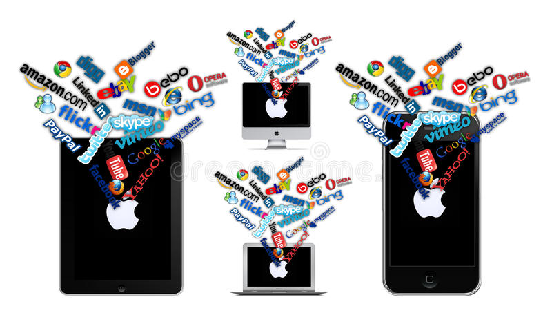 Download Social technology on Apple editorial stock image. Illustration of contemporary - 27574249