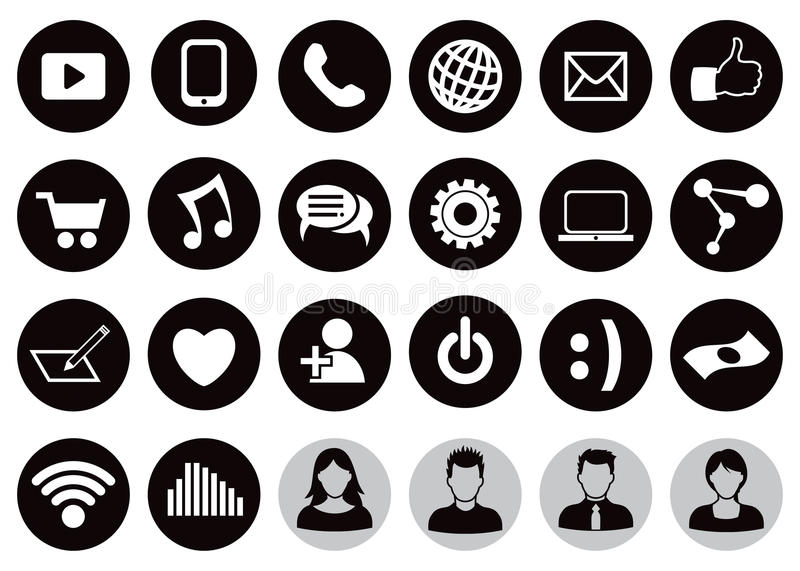 Social Technology Icon Set vector illustration