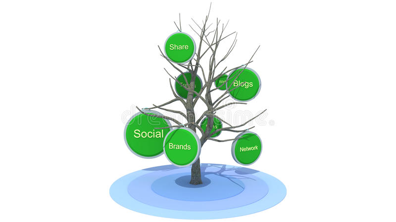 Download Social Tree stock illustration. Image of blogs, blue - 34274988