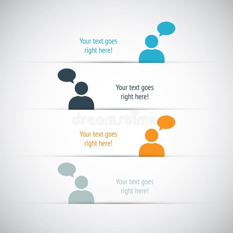 Social vektor för massmediaaffärsbaner vektor illustrationer