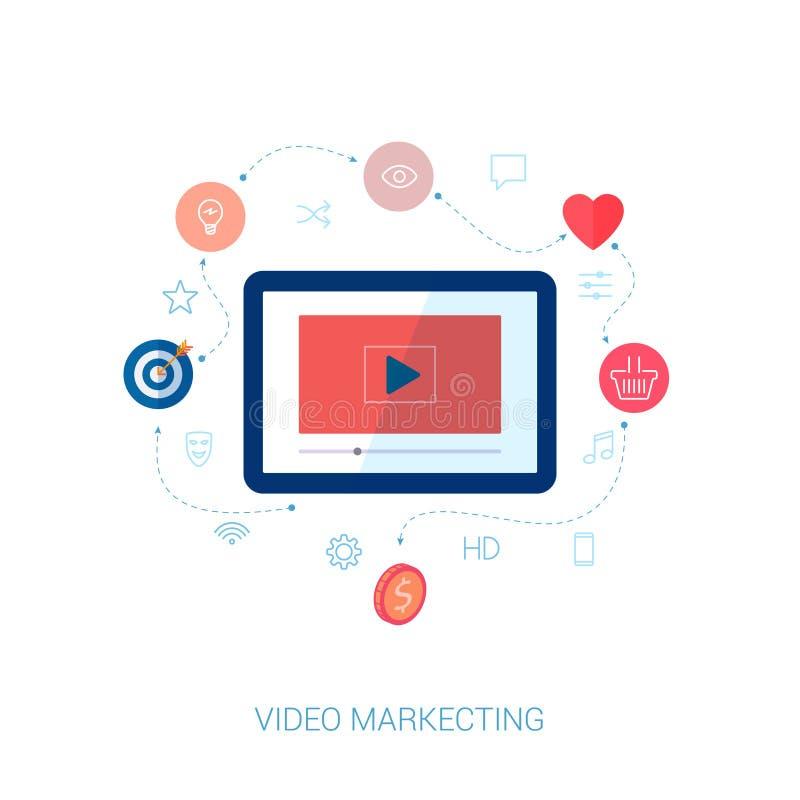 Viral Times Web: Social Video Viral Marketing Flat Icon Vector Stock Vector