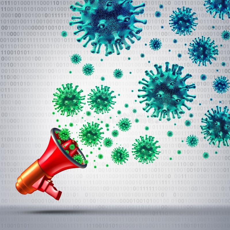 Social virus- kommunikation royaltyfri illustrationer