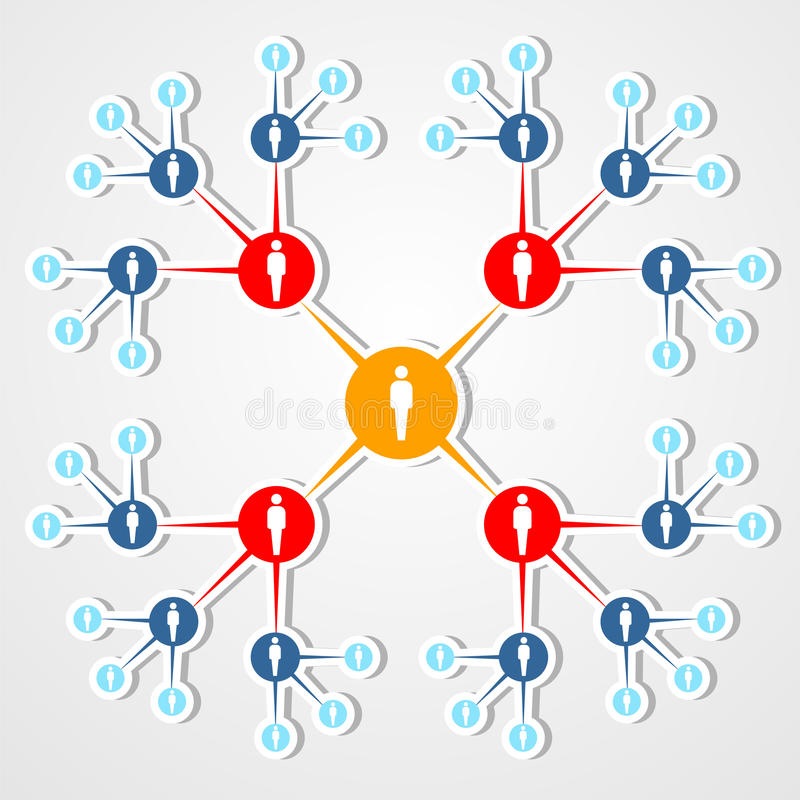 Social web network marketing diagram. royalty free stock photo