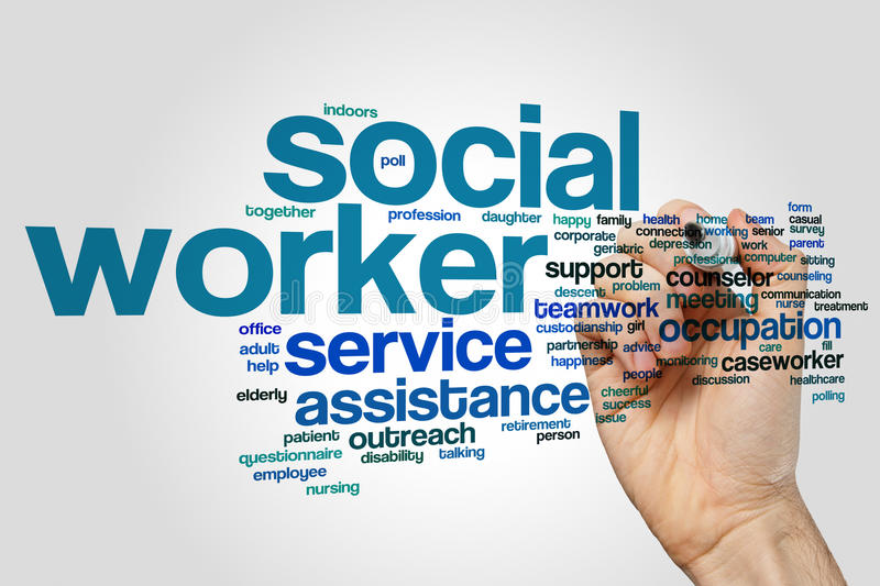 Social worker word cloud royalty free stock photo