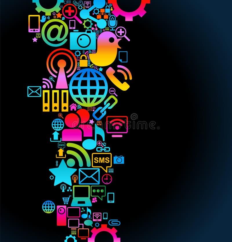 sociala bakgrundsmedel stock illustrationer