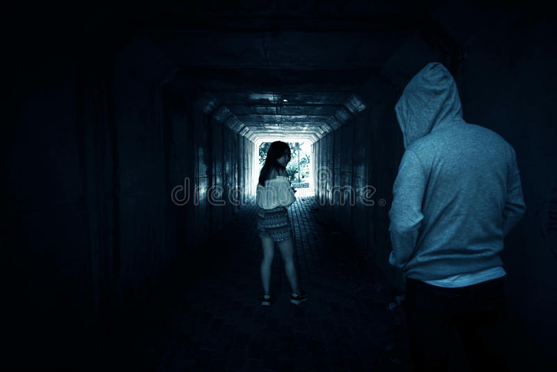 Sociala frågor, Stalker royaltyfri fotografi