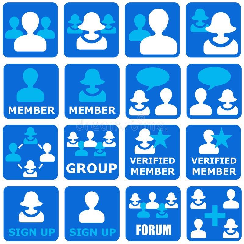 Sociala grupper vektor illustrationer
