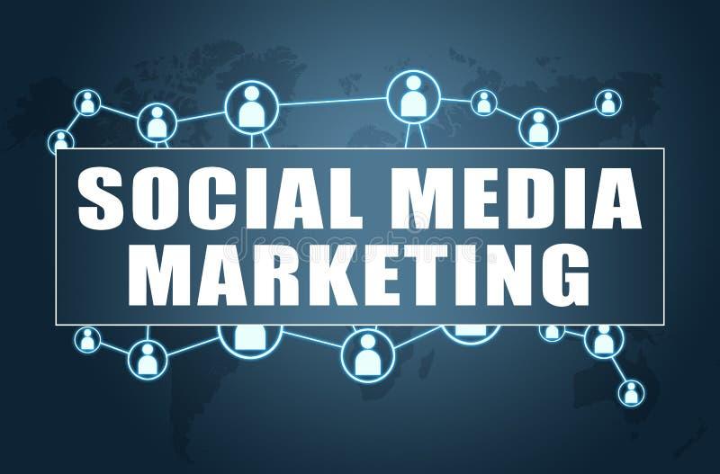 sociala marknadsf?ringsmedel royaltyfri illustrationer