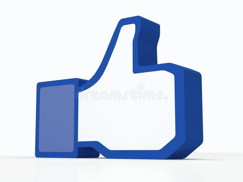 Sociala massmediafacebooktummar-upp stock illustrationer