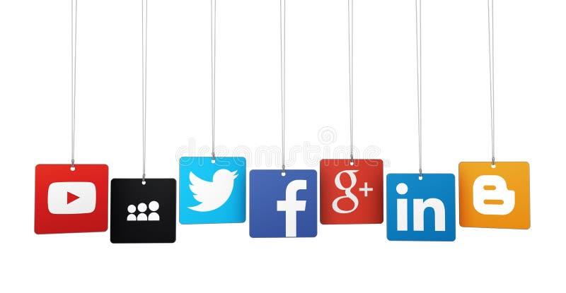 Sociala massmedialogotyper vektor illustrationer