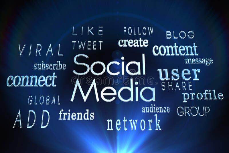 Sociala massmediaord stock illustrationer