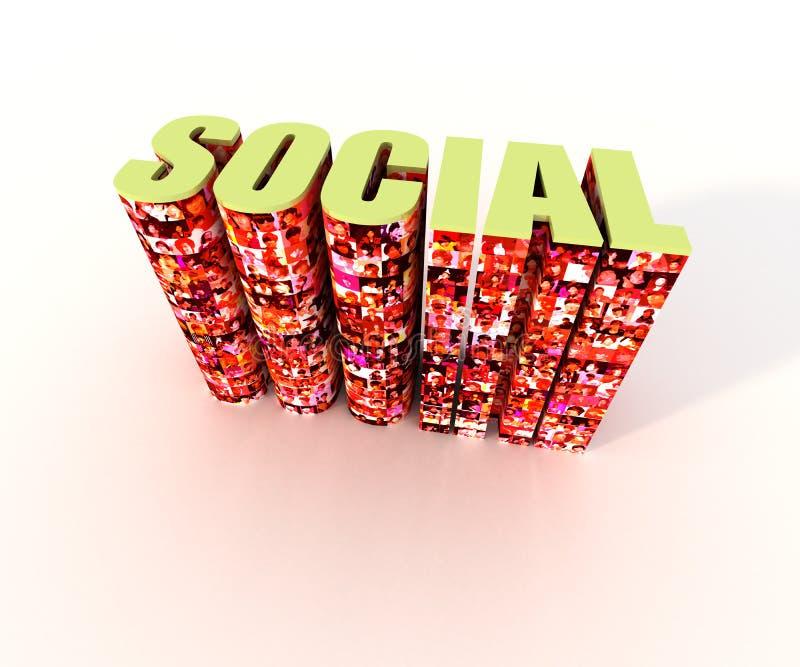 sociala medel royaltyfri illustrationer