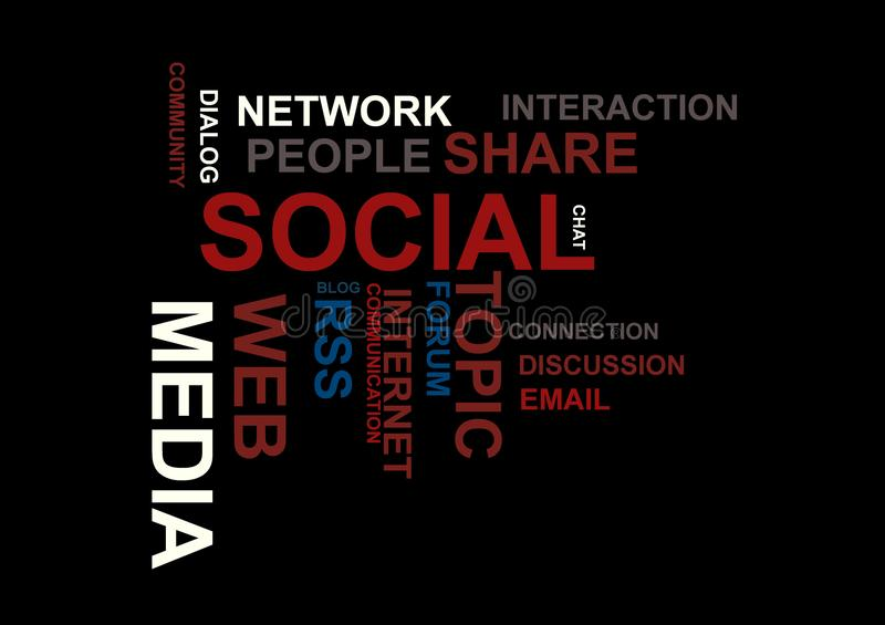 Sociala medel word oklarheten royaltyfri illustrationer