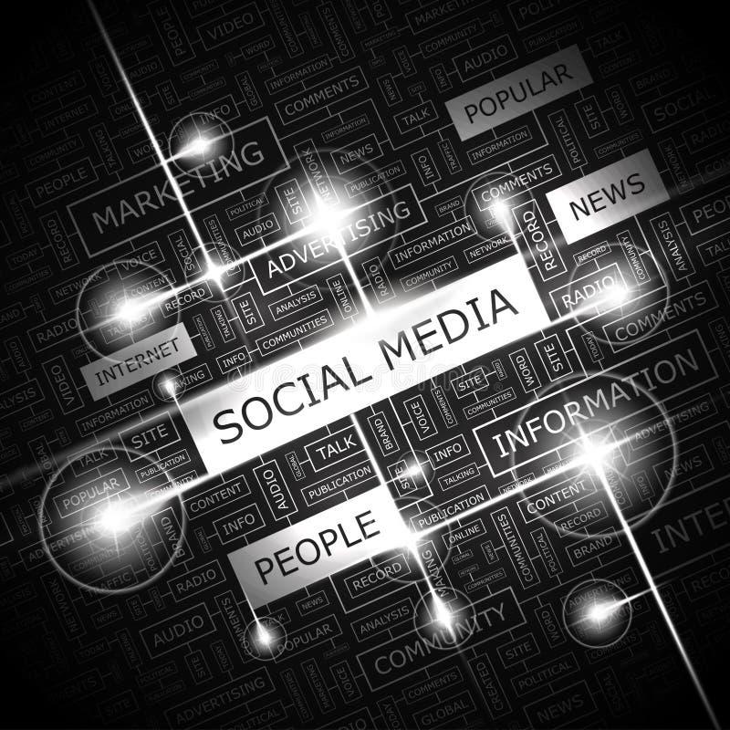 SOCIALA MEDIER vektor illustrationer