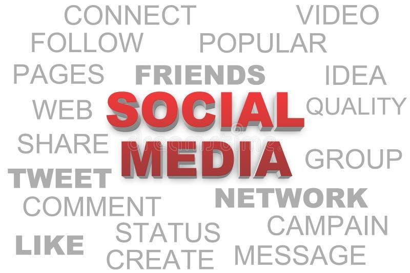 Sociala medier royaltyfri illustrationer