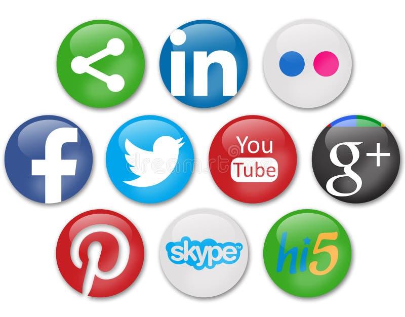 Sociala nätverk royaltyfri bild