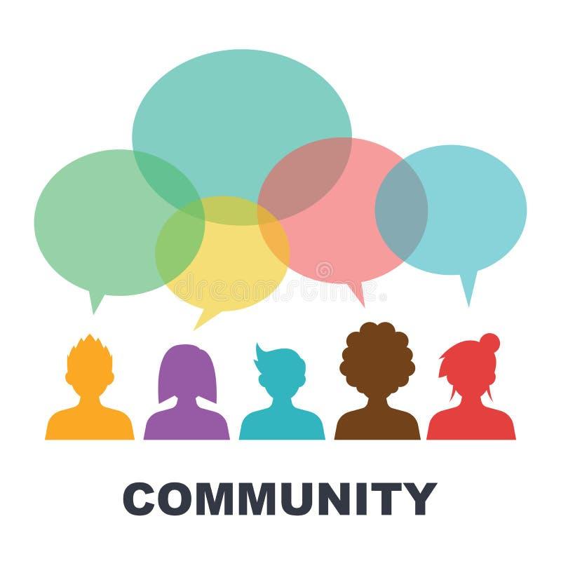 Sociale gemeenschap royalty-vrije illustratie