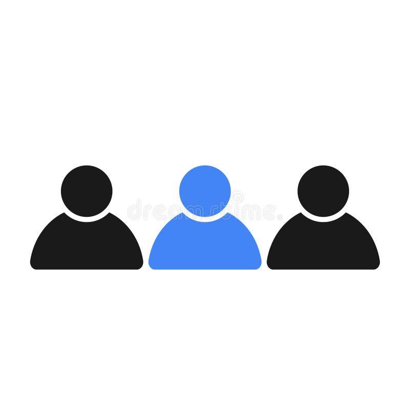 Sociale groep mensen Leider in het team royalty-vrije illustratie