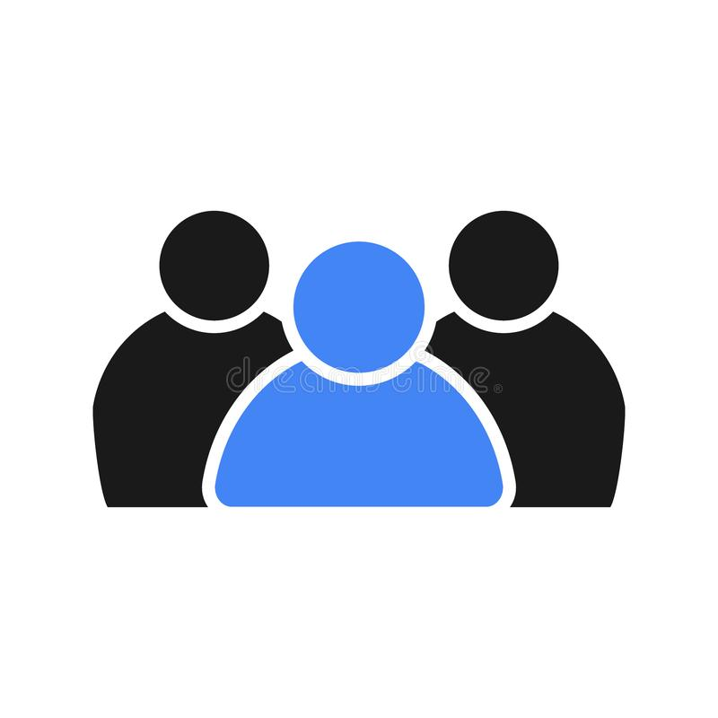Sociale groep mensen Leider in het team vector illustratie