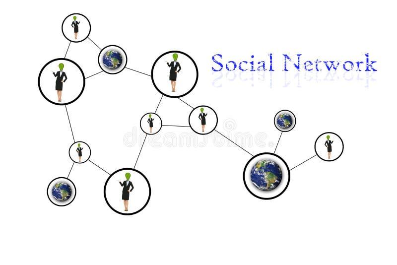 Sociale het netwerkmededeling van mensen royalty-vrije illustratie