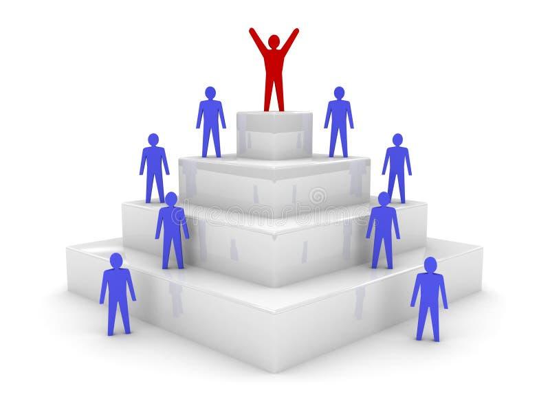 Sociale hiërarchie. Leiding. stock illustratie