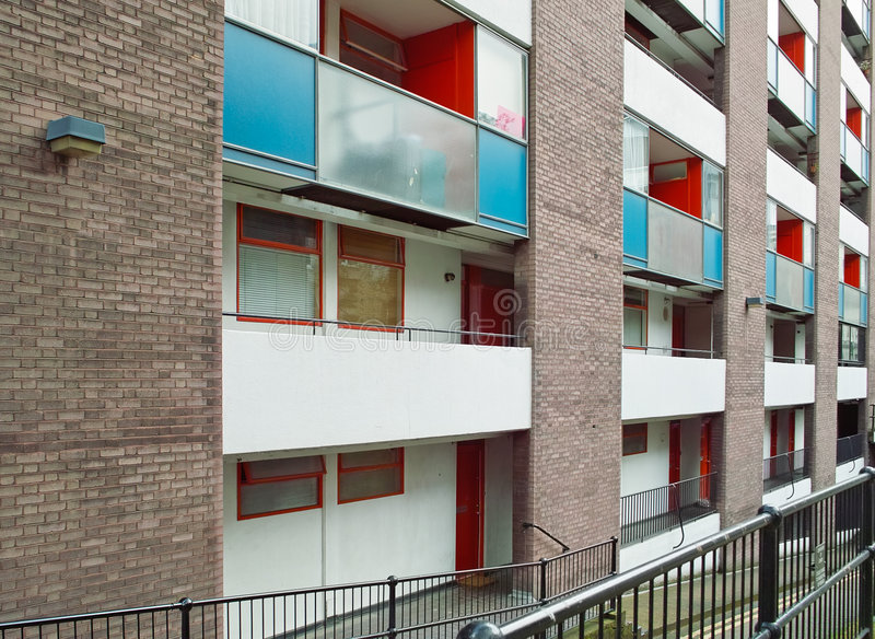 Sociale huisvesting in het UK stock foto