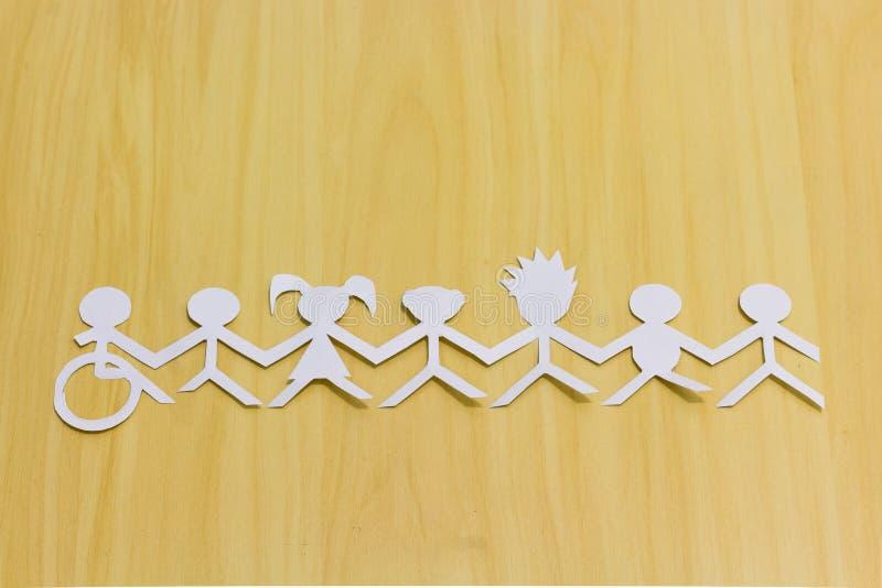 Sociale integratie Allen verenigd door één enkele oorzaak royalty-vrije stock foto