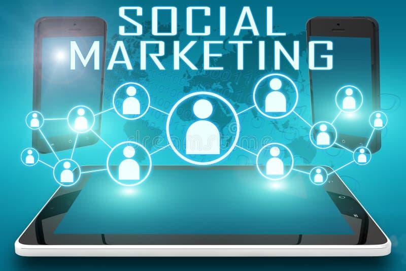 Sociale Marketing stock illustratie