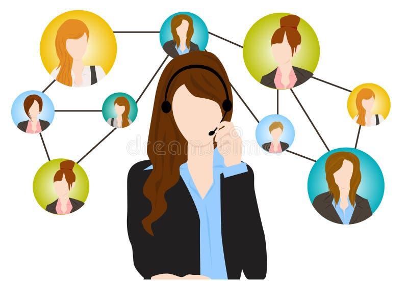 Sociale mededeling stock illustratie
