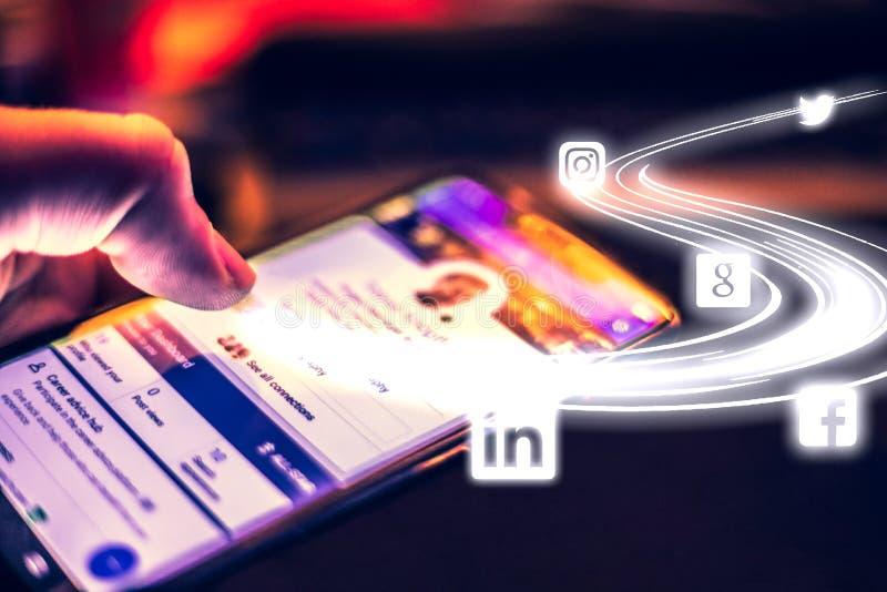 Sociale Media stock fotografie