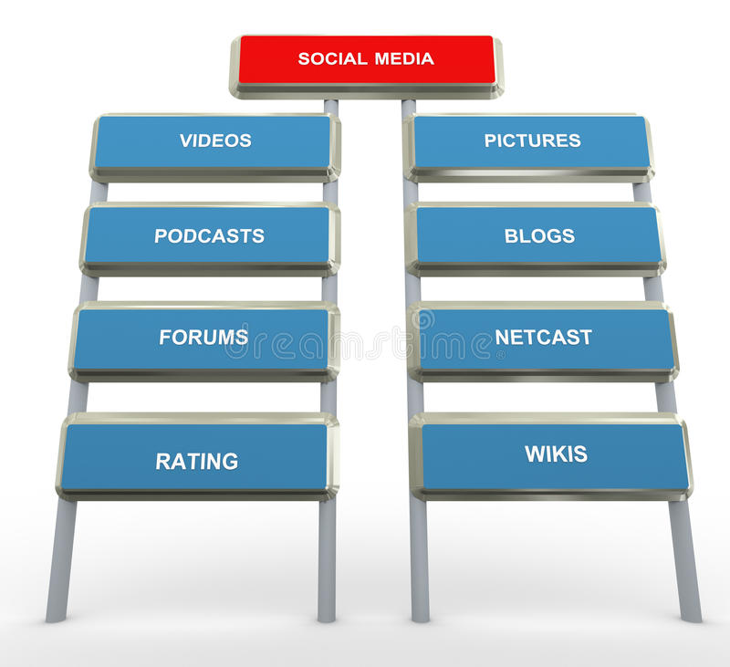 Sociale media stock illustratie