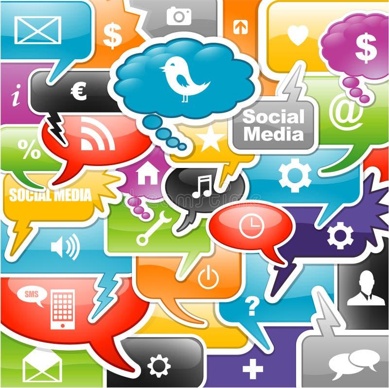 Sociale media achtergrond stock illustratie