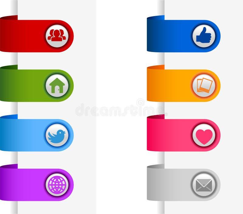 Sociale media banners royalty-vrije illustratie