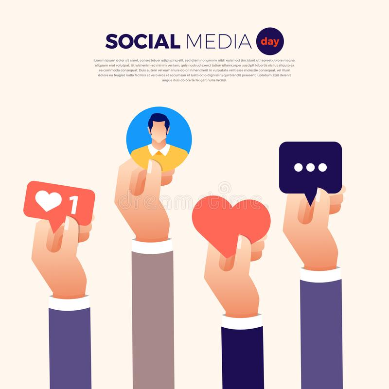 Sociale Media Dag vector illustratie