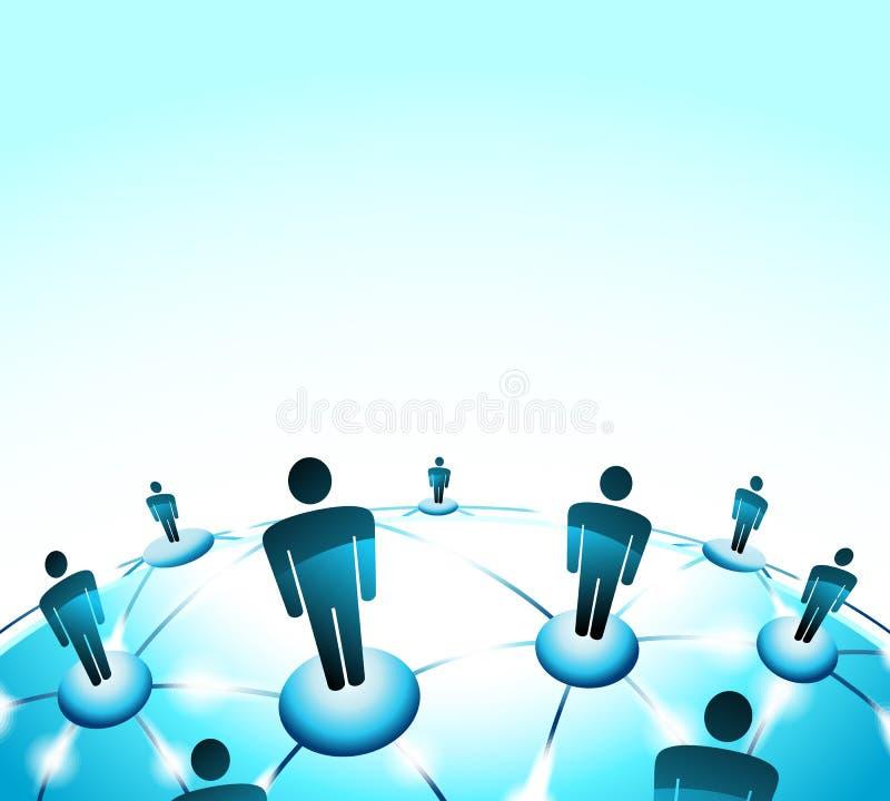 Sociale Media en aansluting illustratievector stock illustratie