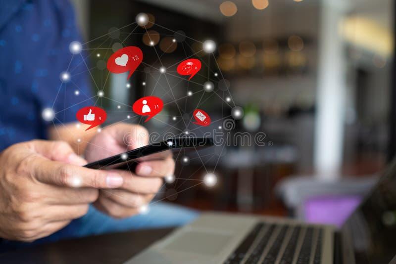 Sociale media en digitaal netwerk stock fotografie