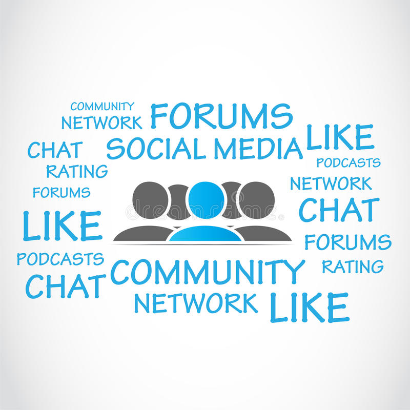 Sociale media forums royalty-vrije illustratie
