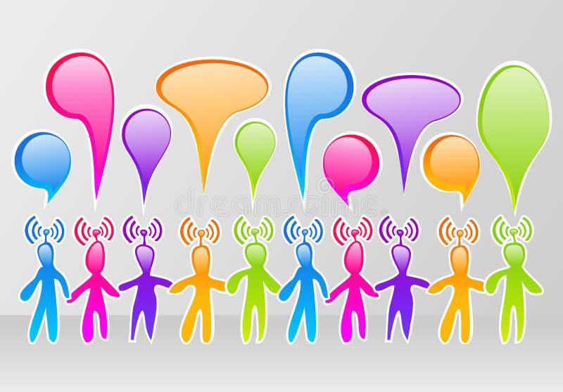 Sociale media gemeenschap vector illustratie