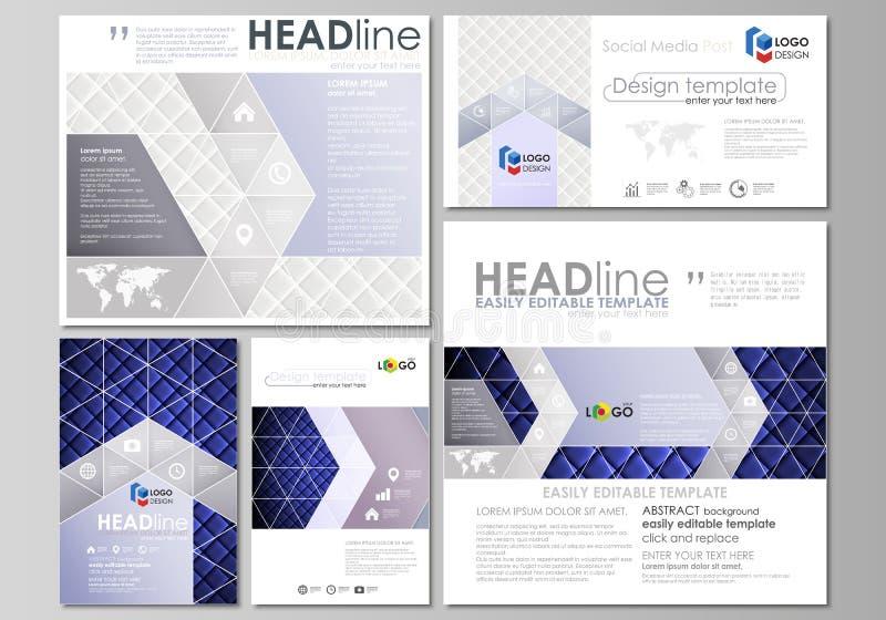 Sociale media geplaatste posten Bedrijfs malplaatjes Abstract vlak ontwerpmalplaatje, vectorlay-outs in populair formaat glanzend stock illustratie