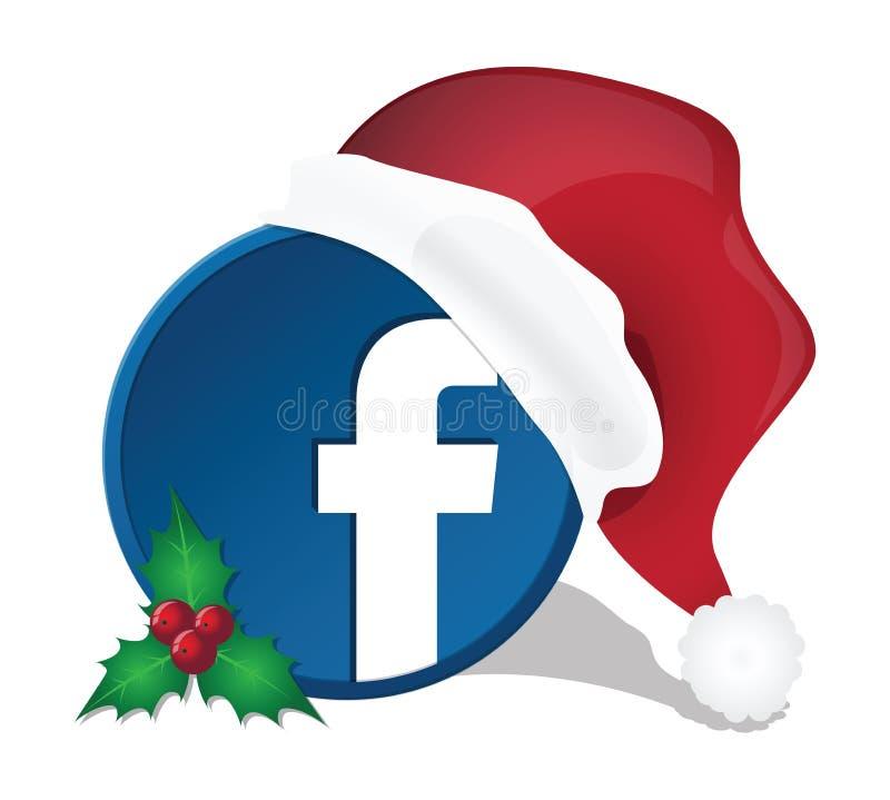 Sociale media Kerstmispictogrammen stock foto's