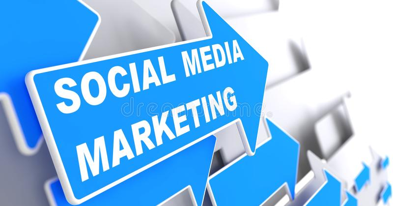 Sociale Media Marketing. Bedrijfsconcept. stock illustratie